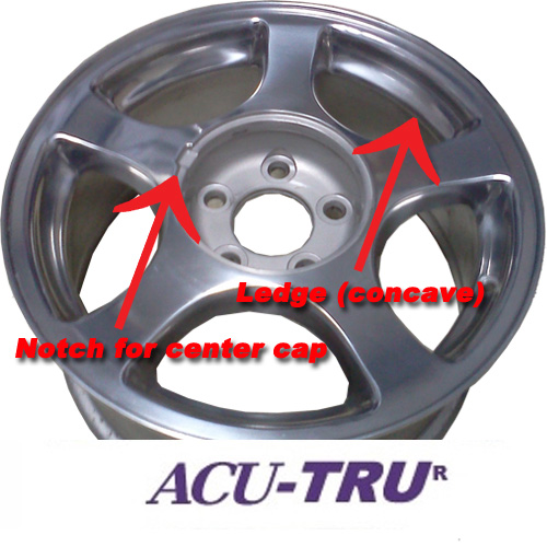 "16"" Ford Mustang Wheel Rim - 3375 polished, notch, ledge"