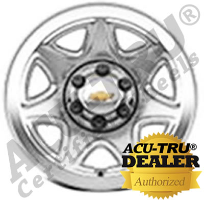 "17"" Chevrolet Silverado Steel Wheel Rim - 5655 chrome"